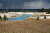 First view of Yellowstone National Park.
