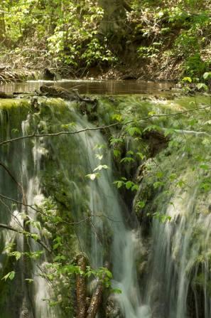 10. Mirror-like pool above falls.