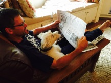 Bill and Duffy read the sports page