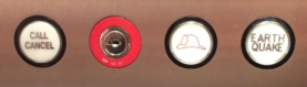 Elevator's 'earthquake' button.