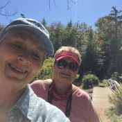 Mother and daughter hikers.