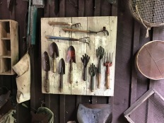 Garden tools make art.