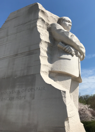 An imposing Martin Luther King.